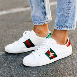 ❤️SALE❤️ Gucci Ace Embroidered Bee Sneakers